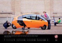 April 2012 MonoTracer of Switzerland Calendar - High tech mechanical and sleek aerodynamics!