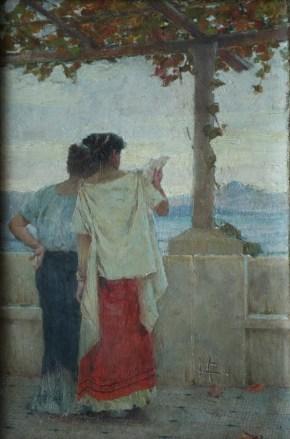 Mato Celestin Medović, Pompejanke na terasi II, 1896.