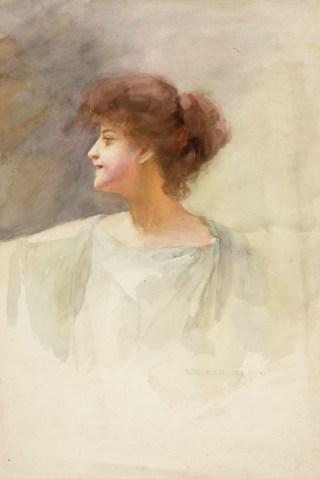 Robert Auer, Bista žene u antičkoj draperiji, 1904.