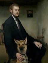 Autoportret sa psom, 1910.
