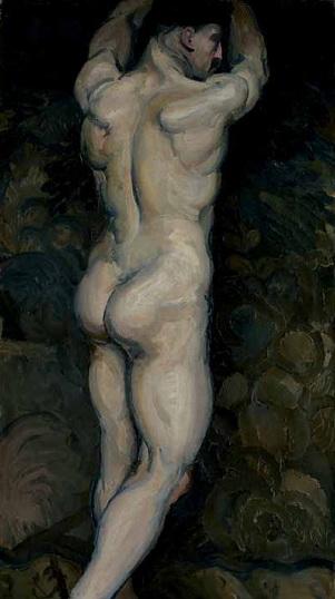 Muški akt s leđa, 1911.