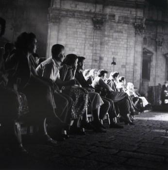 Publika u gledalištu Dubrovačke ljetne igre, 1954.