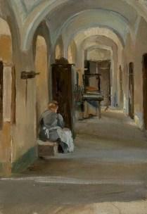 Teta Lujka u hodniku, 1907.
