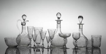 Garnitura za piće stolna, Beč, 1850-tih, tvrtka Joseph Ludwig Lobmeyr, MUO