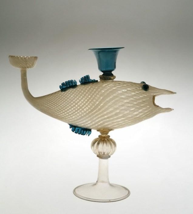 Posuda u obliku ribe, Venecija, XV.-XVII. st., MUO