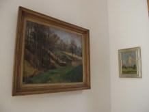 lijevo: Zora Matić - Pejzaž, 1950., desno: Gabrijel Jurkić Pejzaž (jutro)
