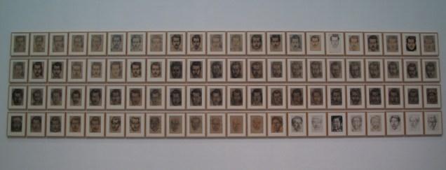 Autoportreti, 1949-1952, ugljen na papiru, olovka na papiru