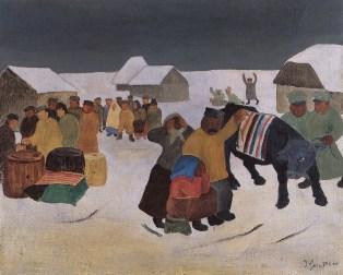 Rekvizicija, 1934., ulje na šerploči