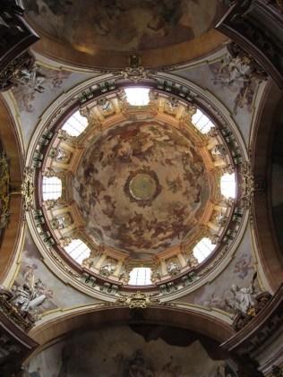 Crkva sv. Nikole - kupola, freska Františeka Palka - Slava sv. Trojstva 1752-1753.
