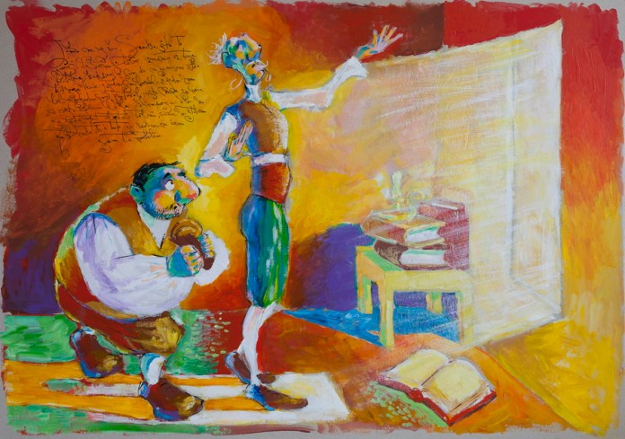 Don Quijote - Don Quijote tumači Sanchu filozofiju skitnika-vitezova