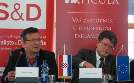 S lijeva na desno: Nikola Albaneže, Tonino Picula