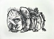 Metamorfoza, 1965.; linorez / iz mape Bestijarij (foto: Daniel Zec)