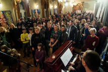 Otvorenje izložbe Ljubomira Stahova u Gradskom kazalištu Zorin dom, foto: Iva Lulić