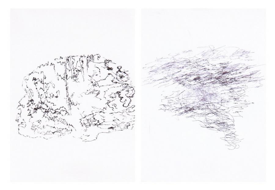 Impulses, 2012., 35 drawings - ink on paper 14,8 x 21cm