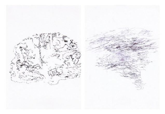 Impulses, 2012., 35 drawings - ink on paper 14,8 x 21cm