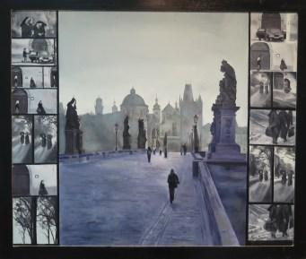 Prag, ulje na mediapanu, 2014.