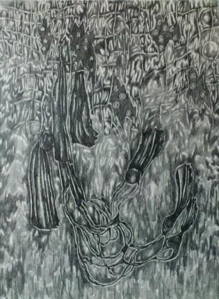 Iz serije crteža Bez naziva, 2013., Festival svjetske književnosti