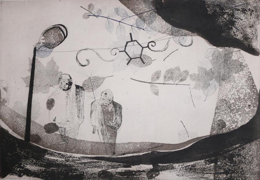 Alisa u zemlji (č)Udesa, 50x70 cm, 2010.