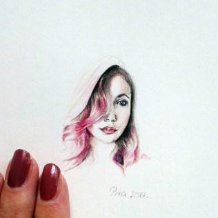 Nikolina Knežević - Mini me; akvarel, 2017.