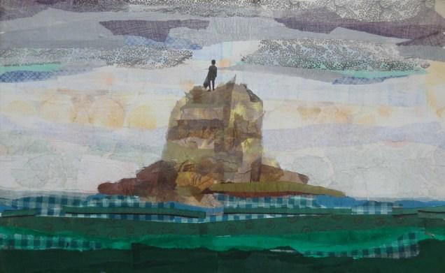 Maruša Štibelj - Dream land, kolaž na platnu