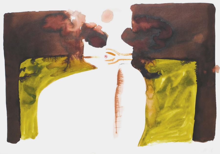 Pušač 1 (242), 1978., tempera/papir; 59x84cm