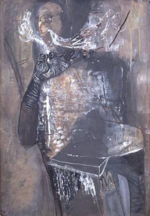Pušač (Z1), 1950., tempera/papir; 100x70cm