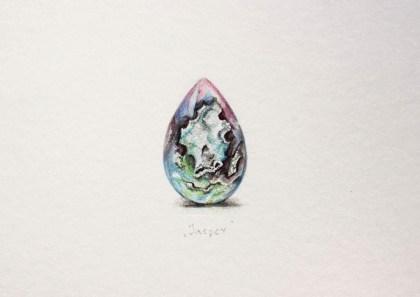 Jasper, 14x10,5 cm, akvarel, 2016.
