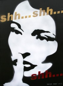 Shh..., 2012, 70x50 cm, acrylic on canvas