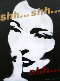Shh..., 2012, 70x50 cm, acrylic on canvas