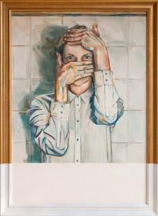 Kaja Urh - It's me… Loading., 2016., akril, 109x79cm