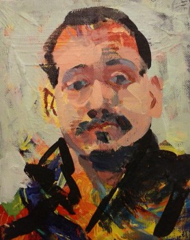 Mihovil Dorotić - Autoportret, 2017., akril, 30x24cm