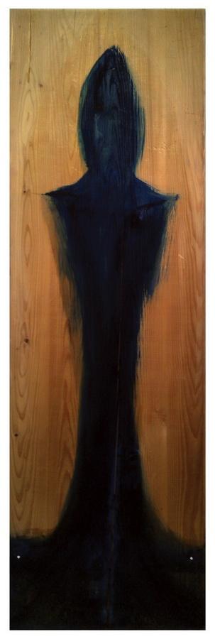 Bruno Nježić – Sjena 1; slika-objekt, drvo, akrilno vezivo, pigment, 2016.