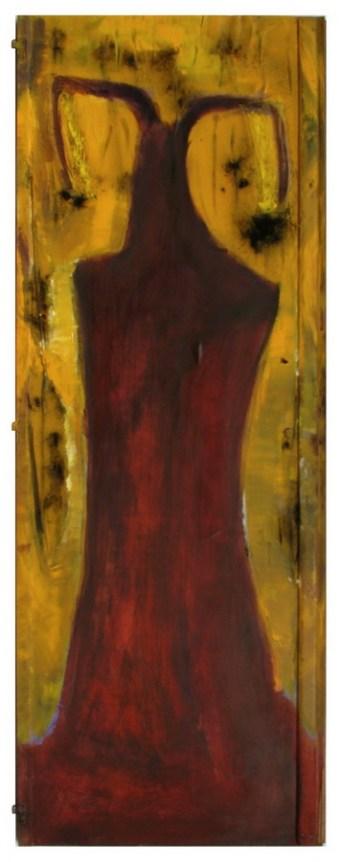 Bruno Nježić – Sjena 2; slika-objekt, drvo, akrilno vezivo, pigment, akrilik, 2016.