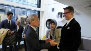 Veleposlanik Japana u Hrvatskoj g. Keiji Takiguchi, umjetnica Teruyo Sato i Leon Zakrajšek