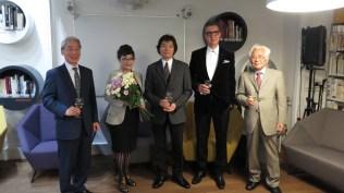 Veleposlanik Japana u Hrvatskoj g. Keiji Takiguchi, Teruyo Sato, Harumi Sonoyama, Leon Zakrajšek, predsjednik Japan Print Associationa Teruo Isomi