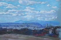 Mihovil Dorotić - Pejzaž 2, pastel na papiru, 2017.