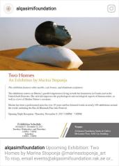 """Izložba """"Two Homes"""" - galerija fondacije Sheika Al Quasimi"""