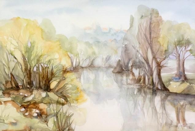 Ogledalo Dobre II - akvarel, 1992., 35x51cm
