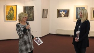 Voditeljica izložbene i filmske djelatnosti Centra za kulturu Čakovec Marina Oskoruš i kustosica izložbe Sonja Švec Španjol