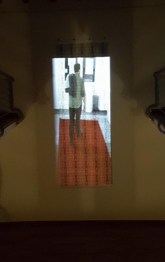 """Site specific instalacija """"Poznati na crvenom tepihu"""", promjenjive dimenzije, kombinirana tehnika, 2018."""