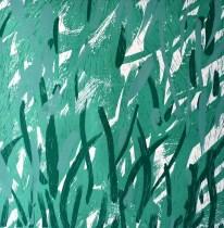 Nešto uz zelenu vazu, linorez, 80x70cm, 1/1, 2015.