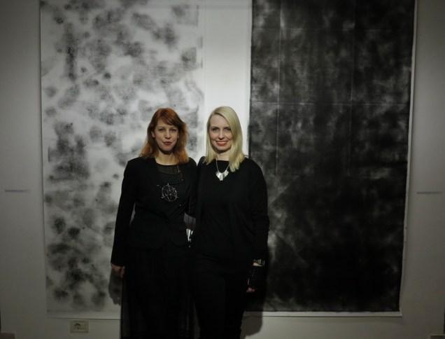 Umjetnica Sunčana Simichen i Sonja Švec Španjol