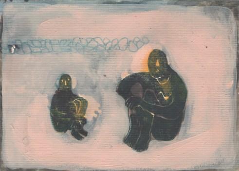 Ana Sladetić - Noćni ljudi, kombinirana tehnika, 23 x 32cm