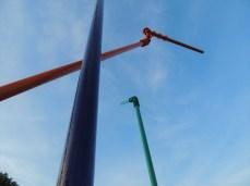 """Skulptura """"Stabilno-labilno"""" - dvorište Akademije likovnih umjetnosti u Širokom Brijegu"""