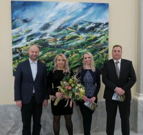 Župan Željko Kolar, Maja Vukina Bogović, Sonja Švec Španjol, gradonačelnik Klanjca Zlatko Brlek