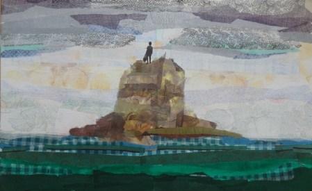 Dreamland 2 - collage on canvas, 70x50cm, 2016.