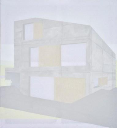 Nina Čelhar - Kuća VIII, akril na platnu, 160x145cm, 2018.