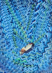 Damir Facan-Grdiša - More uspravno, akvarel na papiru, 70x54cm