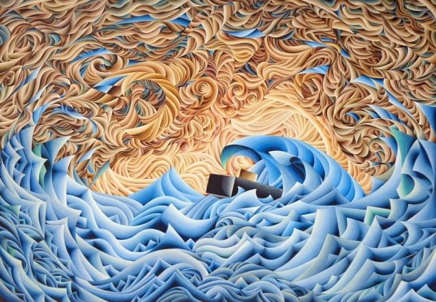 Damir Facan-Grdiša - More veliko, akvarel na papiru, 140x200cm