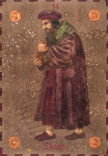 Siniša Reberski - Skup, akvarel na papiru, 50x70cm, 2019., foto: Josip Strmečki